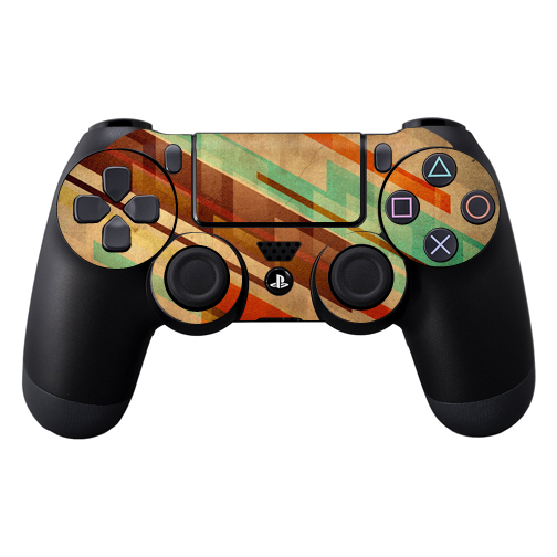 Mightyskins Protective Vinyl Skin Decal Cover for Sony PlayStation DualShock 4 Controller wrap sticker skins Abstract Wood