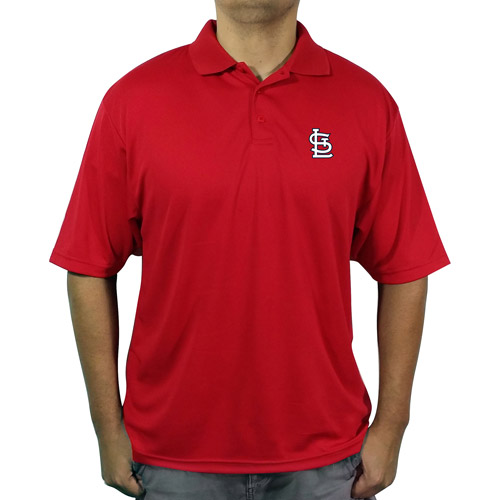 MLB St Louis Cardinals Men's poly polo shirt