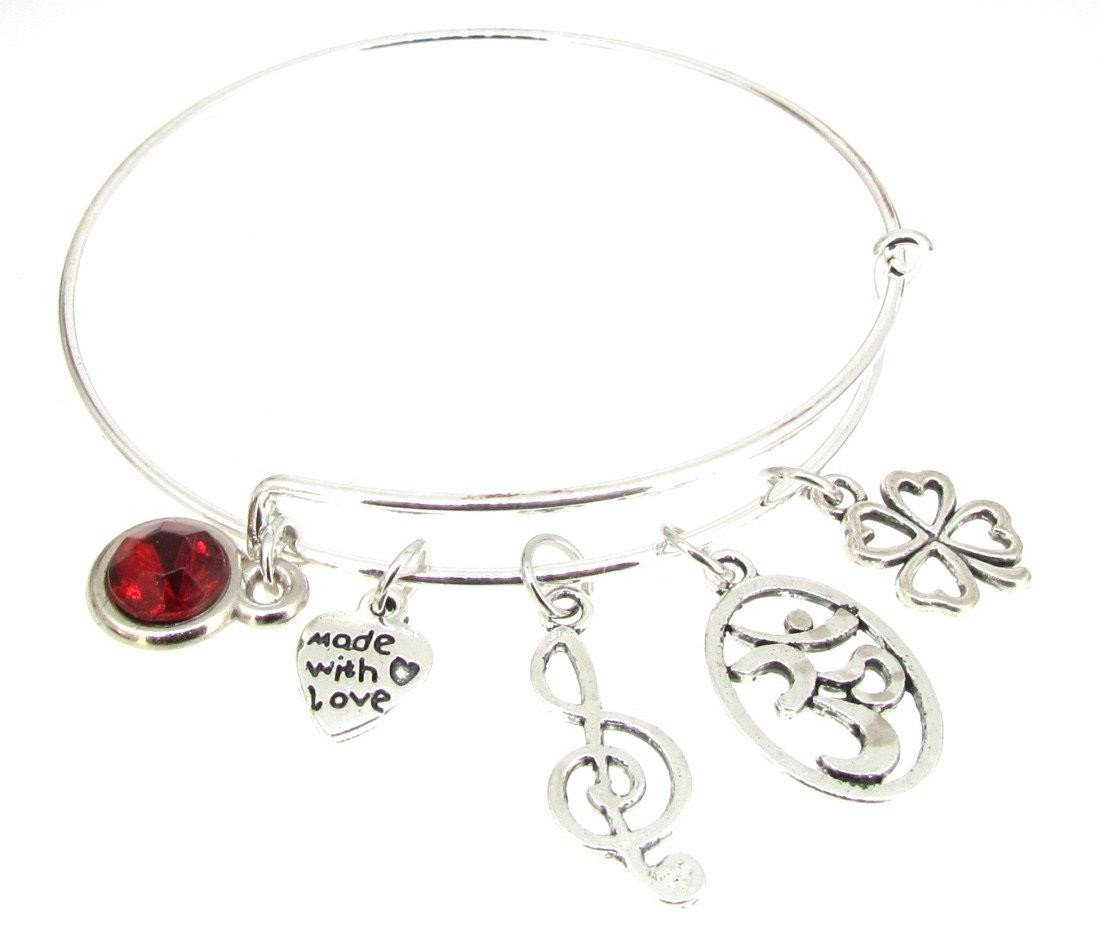 Tree of Life Bracelet Silver Plate Expandable Bangle Snail Octopus Turtle