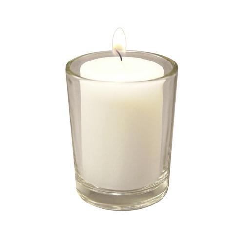JH Specialties Inc. 36 15-hour Votive Candles and 12 Glass Holders by Overstock