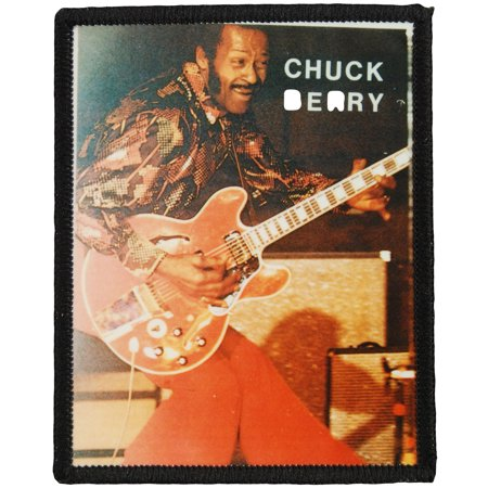 Chuck Berry Mens Photo Patch Black