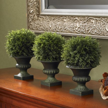 Nearly Natural Cedar Ball Topiary - Set of 3