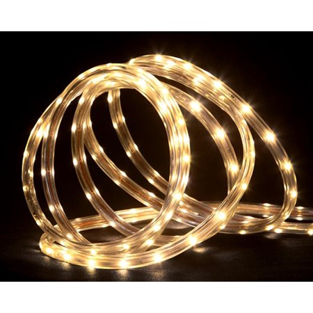 grade warm white led indoor outdoor christmas rope lights on a spool