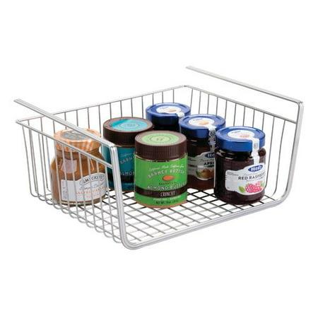 Interdesign york lyra under shelf basket silver for Interdesign york