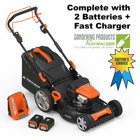 """Yard Force 120vRX Lithium-Ion 22"""" Self-Propelled 3-in-1 Mower with Torque-Sense Control - Complete with 2"""