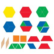 Learning Resources Giant Magnetic Pattern Blocks, Grades PreK+