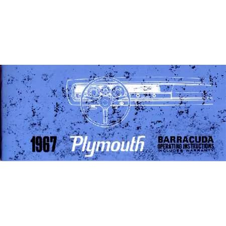 Bishko OEM Maintenance Owner's Manual Bound for Plymouth Barracuda 1967