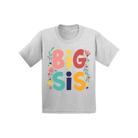 Awkward Styles Baby Announcement Shirt for Girls Floral Toddlers Shirts for Girls I'm Big Sister Shirt Big Sister Shirt Cute T Shirts for Girls Clothing Sis Tshirt for Kids Birthday Gifts for Sister