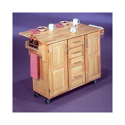 Bundle-83 Home Styles Breakfast Bar Kitchen Cart (2 Pieces)