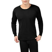 Peach Couture Mens Fleece Lined Soft Stretch Superior Warmth Thermal Underwear Pajamas 2 Piece Set