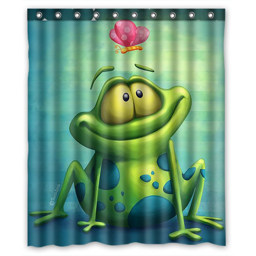 Home Garden Shower Curtains Brand New Frog Waterproof