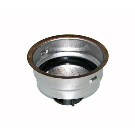 Delonghi 2 Cup Filter Assembly - For Models BAR32, EC155, EC220CD, EC270, EC330, EC460, EC702, ECO310.BK (Delonghi Filter 2 Cup)