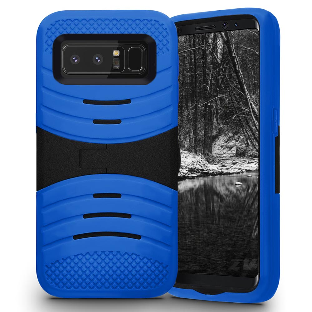 Zizo UCASE Series compatible with Samsung Galaxy Note 8 Case Hybrid Dual Layered with Bulit In Kickstand and Shockproof Protection