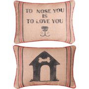 TO NOSE YOU IS TO LOVE YOU WORD PILLOW