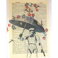 Art N Wordz Star Wars Storm Trooper Umbrella Original Dictionary Sheet Pop Art Wall or Desk Art Print Poster
