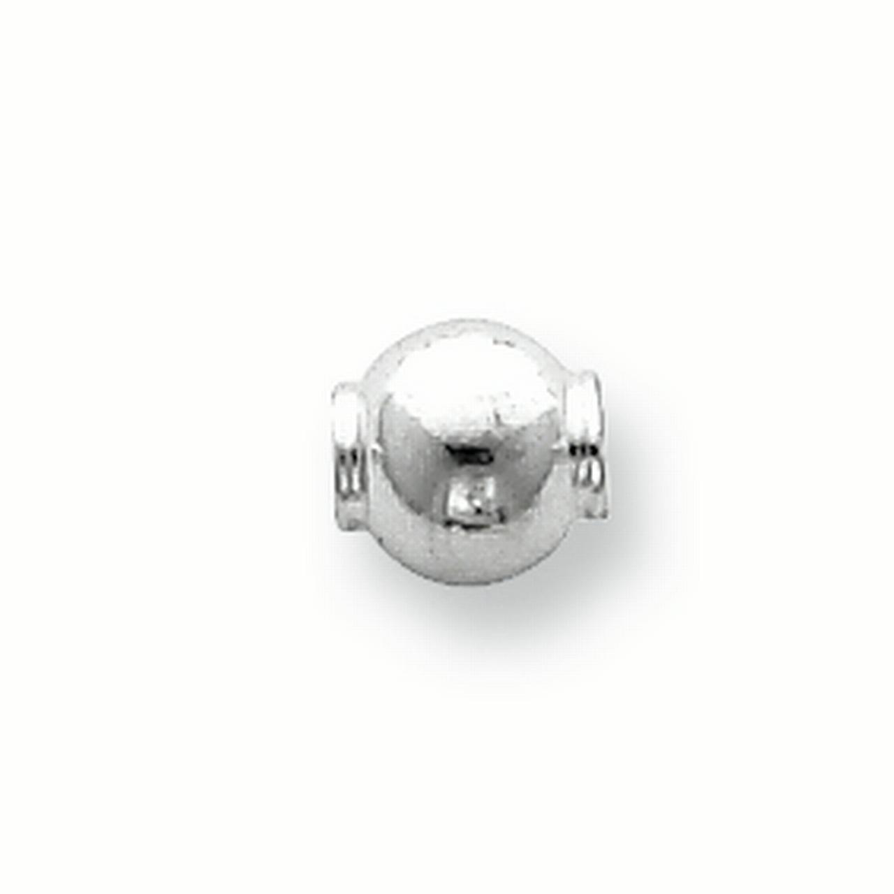 Sterling Silver 6.2 x 6.0mm Polished Fancy Bead