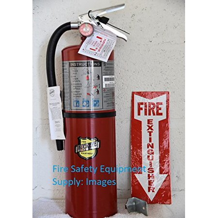 (Lot of 1) Buckeye 10 LB. ABC Fire Extinguisher - Rechargeable and Certified (Tagged) Ready for Fire