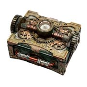 PG Trading 8508 6.25 in. Steam Punk Box with Compass