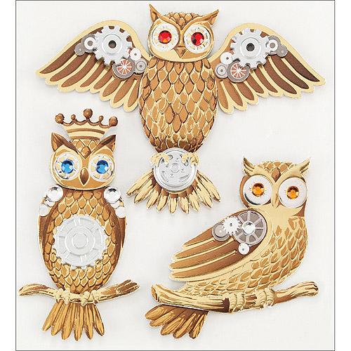 Jolee's Boutique Dimensional Stickers, Owls