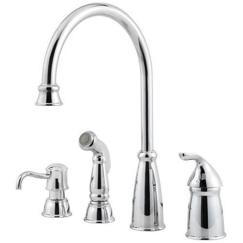 Pfister Avalon High Arc Kitchen Faucet with Sidespray, Available in Various Colors