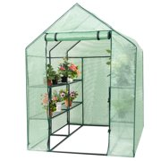 Costway - 2-Tier 8 Shelves - Green- Portable Mini Walk-In Greenhouse