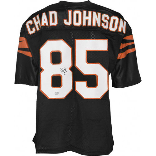 NFL - Chad Johnson Autographed Jersey | Details: Cincinnati Bengals, Black Custom