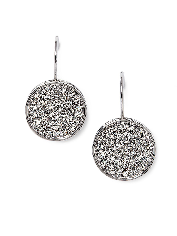 Crystal Round Dangle & Drop Earrings