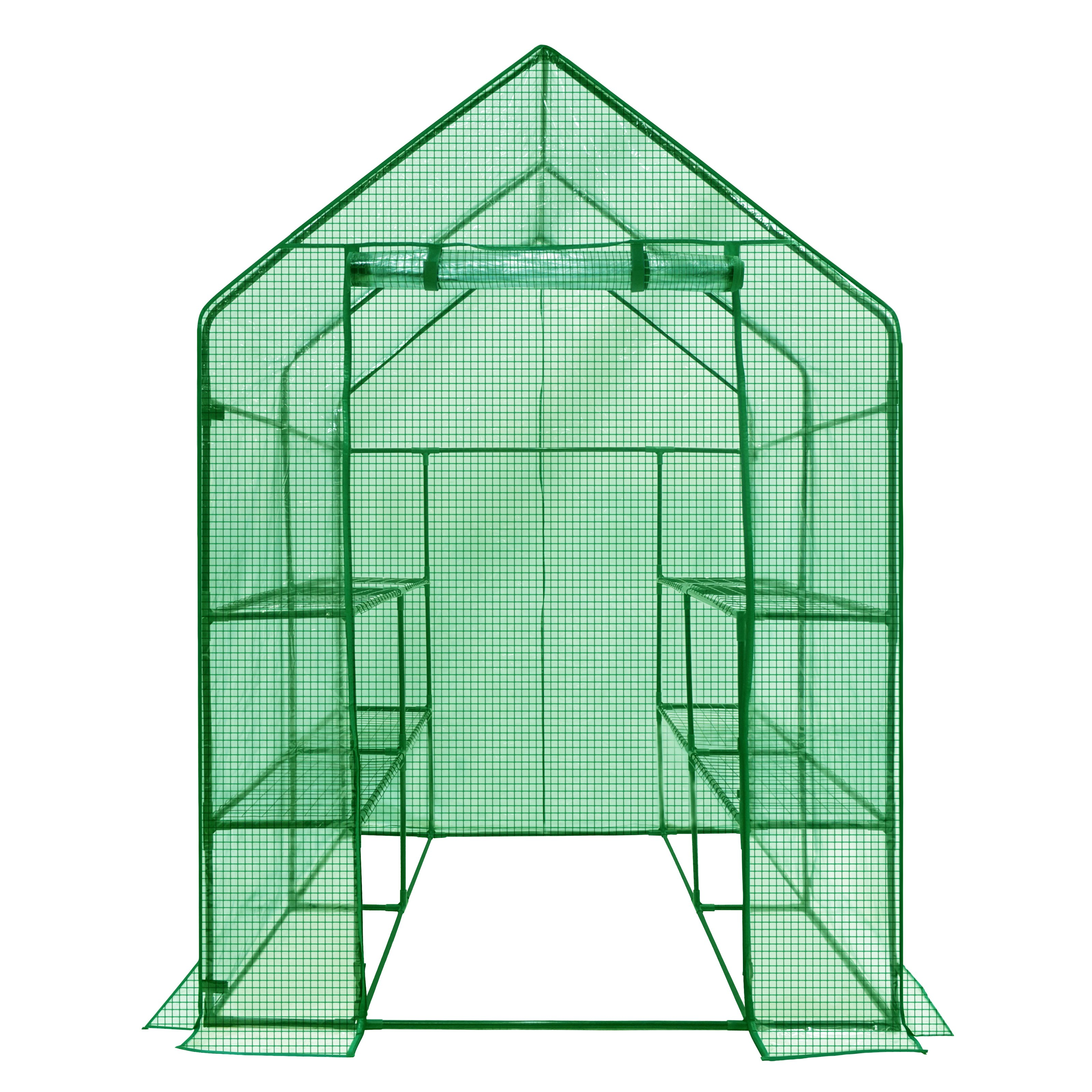Ogrow Deluxe Walk-In Greenhouse with Cover 2-Tier 8-Shelf by OGrow