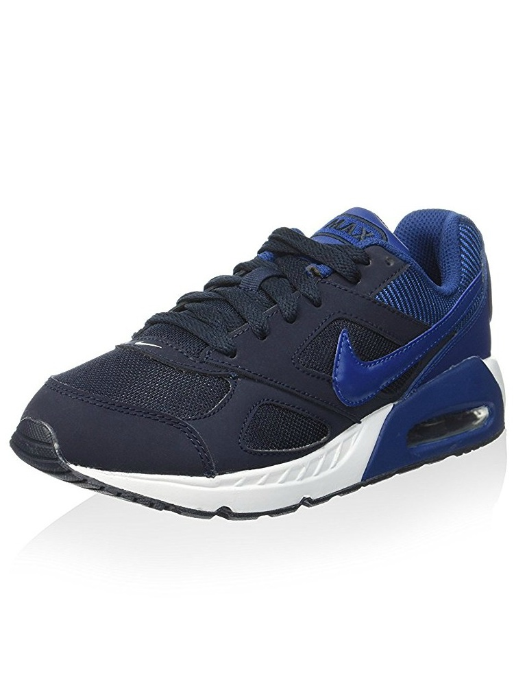 Nike Kids Boys Air Max IVO Running Shoe, Dark Obsidian/Coastal Blue, 5
