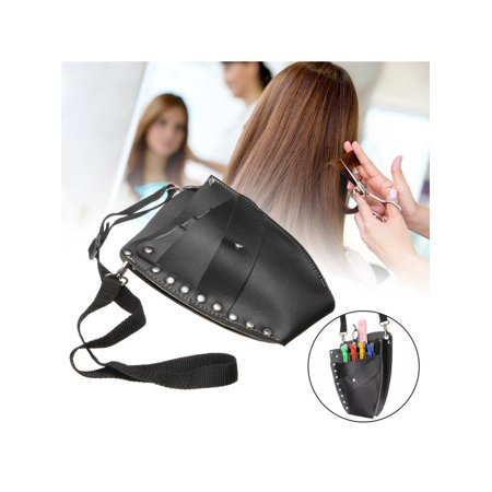 - LuckyFine PU Leather Scissors Bag for Hair Stylist,Hairdressing Holster Pouch Holder Case Rivet Clips Bag for Hairdressing Scissors Shears Kit - Clearance