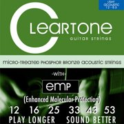 Cleartone Phosphor Bronze Acoustic Guitar Strings (3 Pack; 12-53)