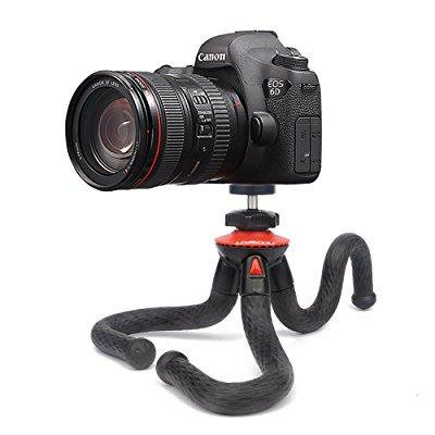 camera travel tripod lammcou durable tripod sturdy tripod flexible tripod smartphone tripod 3in1 cell phone + action camera tripod for canon nikon sony dslr cam/gopro action cam/iphone/samsung