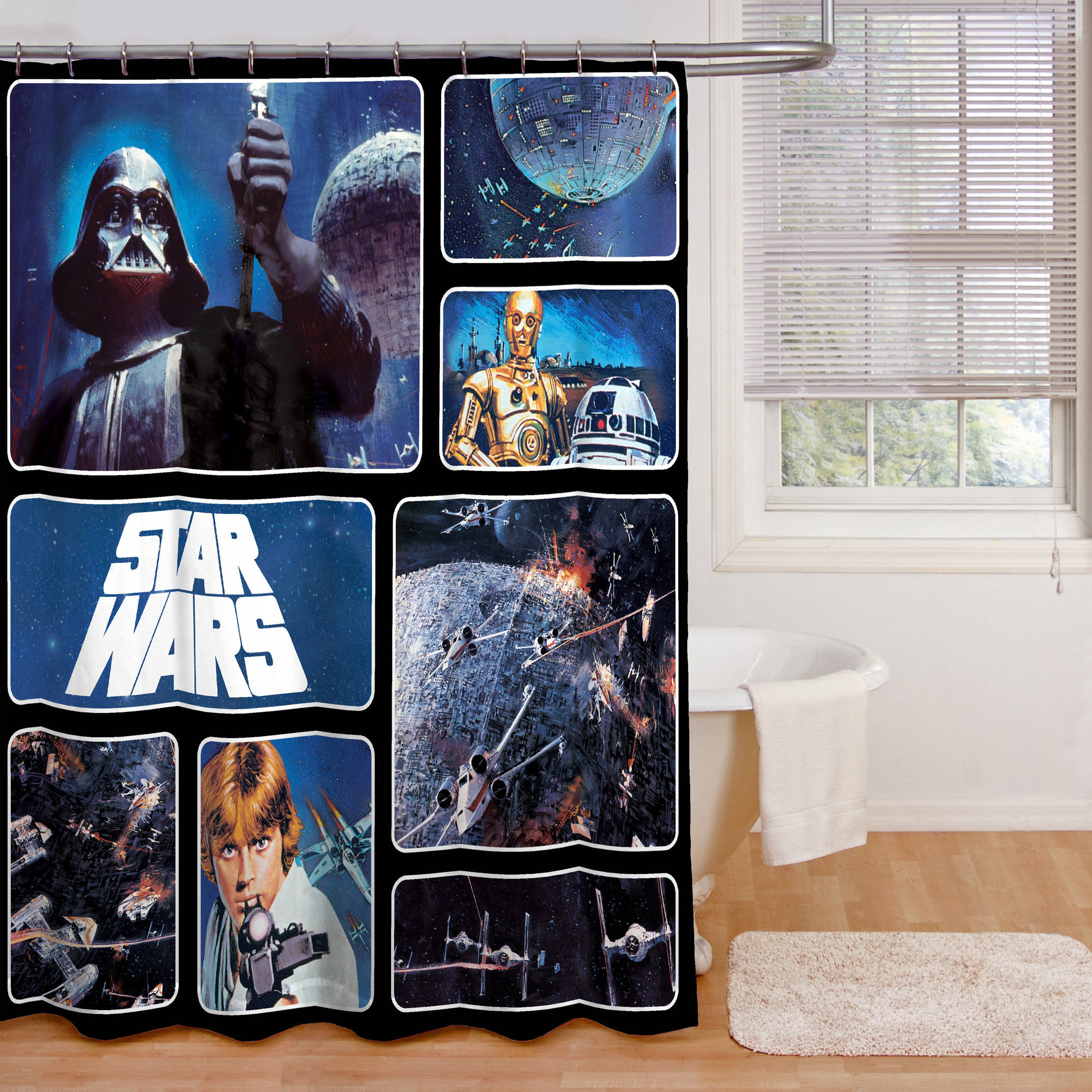Star Wars Fabric Shower Curtain 1 Each