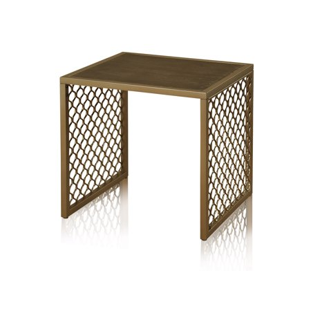 - GwG Outlet Side Table with Lower Shelf in Dark Bronze Finish