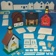 Unfinished D-i-y Wood Birdhouses Craft K