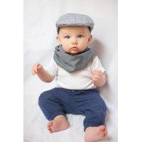 SCABIB Indigo Chambray Baby/Toddler Scarf/Bib Burp Cloth Single Pack