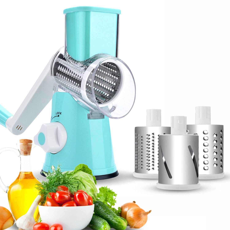 Vegetable Slicer, Fitnate Hand Crank Stainless Steel Fruit Vegetable ...