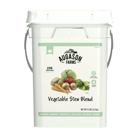 Augason Farms Vegetable Stew Blend Certified Gluten Free Emergency Bulk Food Storage 12 Pound 4-Gallon Pail 236
