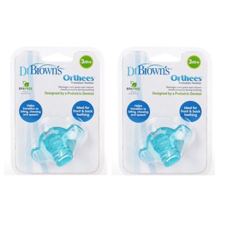 Dr. Brown's Orthees Transition Teether 3m+, BPA Free, Blue (Pack of (Dr Browns Orthee Transition Teether Pacifier Reviews)