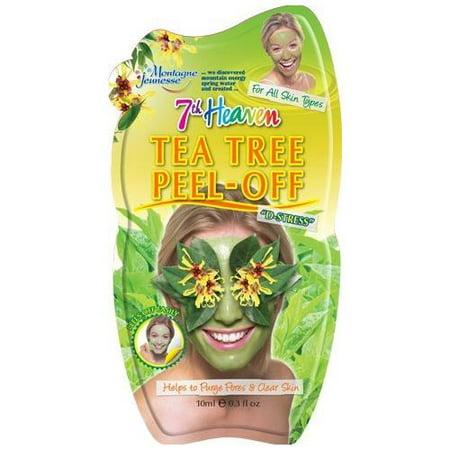 4 Pack 7th Heaven Face Tea Tree Peel Off Mask Minimises & Refines Pores 1