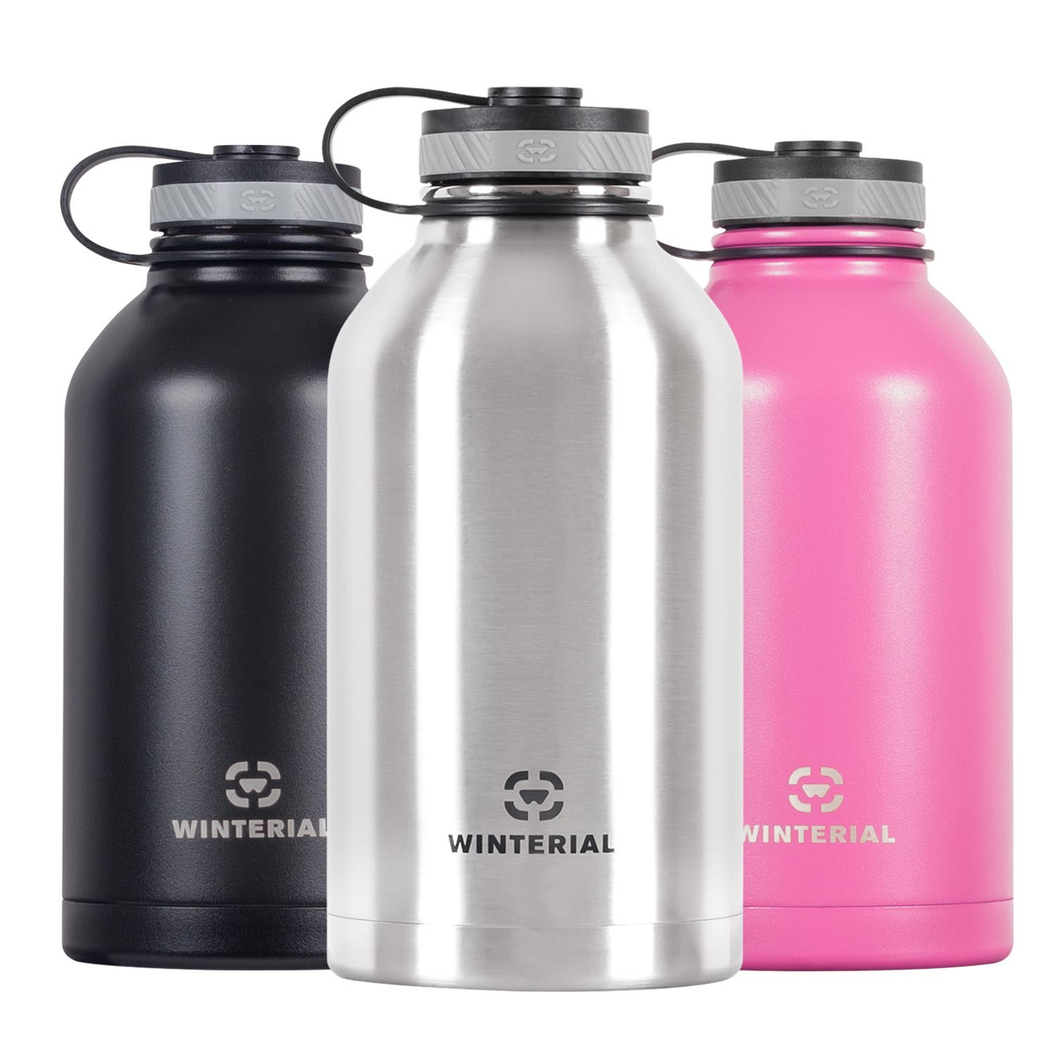 Winterial 64 Oz Insulated Water Bottle Wide Mouth Beer Gr...