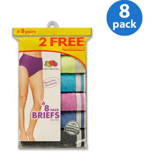 Fruit of the Loom Ladies' Heather Briefs 6+2 Bonus Pack