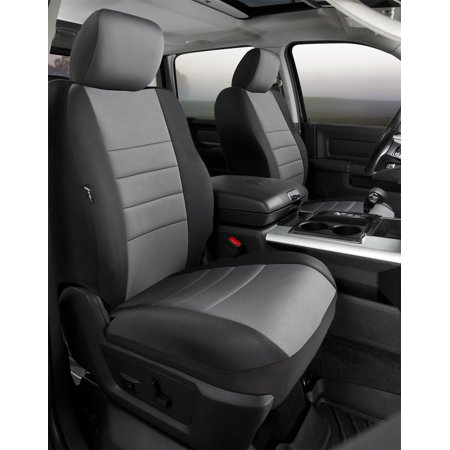 Custom Truck Seat (Fia NP98-35 GRAY Neo Neoprene Custom Fit Truck Seat Covers; Bucket Seats w/Non-Removable/Adjustable Headrests And Side Air Bags;)