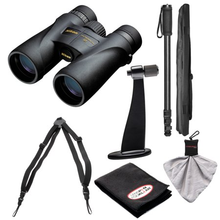 Nikon Monarch 5 8x42 ED ATB Waterproof/Fogproof Binoculars with Case + Harness + Tripod Adapter & Monopod + Kit