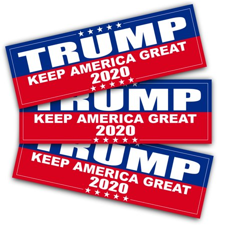Reflective Auto Decals - ANLEY 9 X 3 inch Trump 2020 Decal - Car and Truck Reflective Bumper Stickers - 2020 United States Presidential Election (3 Pack)