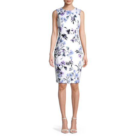 Paneled Floral Sheath Dress (Dkny Dress Women)