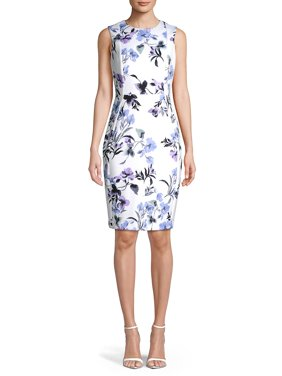 440ec594cee Product Image Paneled Floral Sheath Dress. Product TitleCalvin KleinPaneled  ...