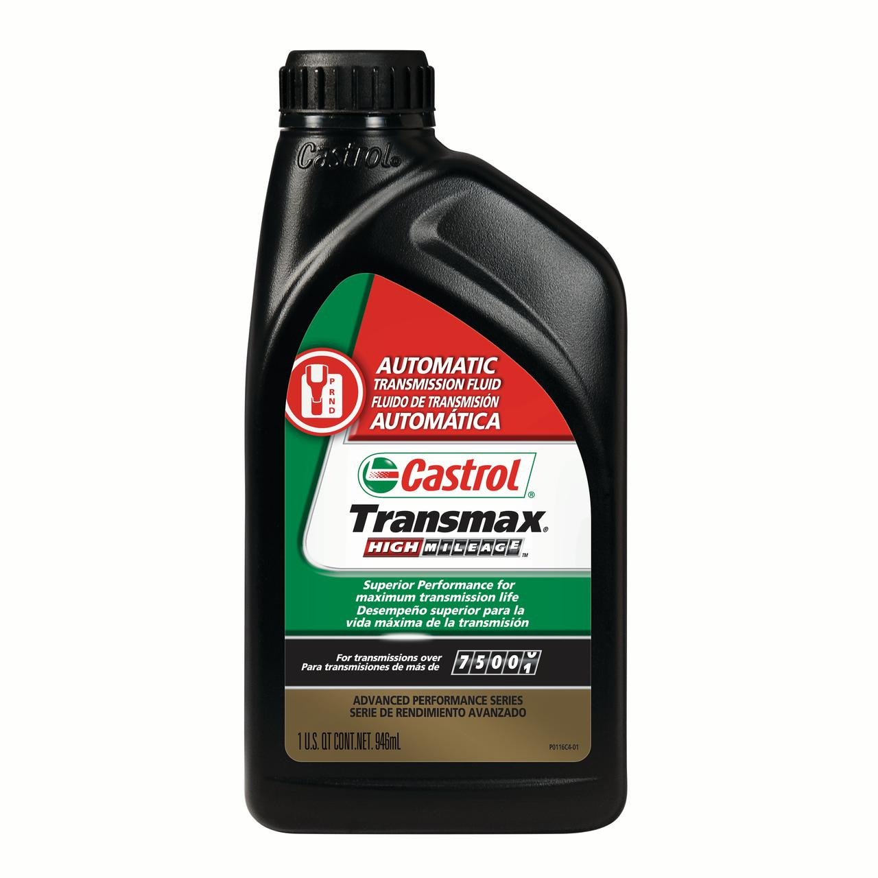 Castrol Transmax High Mileage Automatic Transmission Fluid, 1 QT