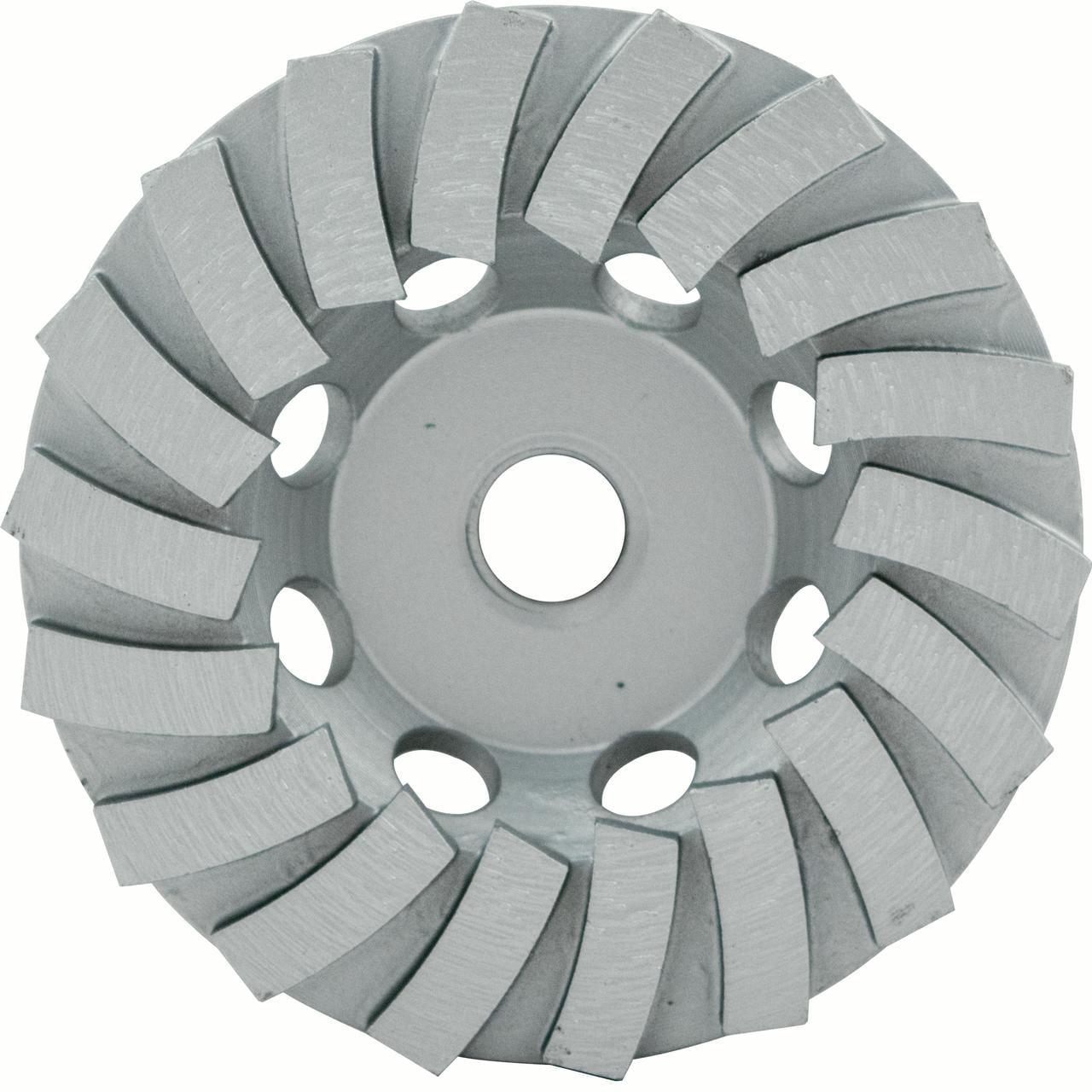 "4"" Spp Series Segmented Turbo Cup Wheel, Wet/Dry, 7/8""-5/8"", 18 Segments"