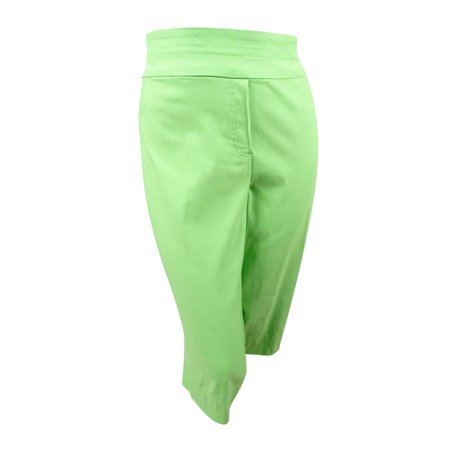 Alfred Dunner Capris - Alfred Dunner Women's Plus Size Pull-On Capri Pants (24W, Lime)